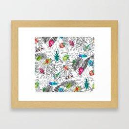 Beetle Bug Collection Framed Art Print