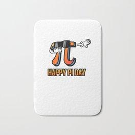Dabbing Love Pi Day design Teacher Student Math Gift Bath Mat