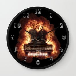 Supernatural Explosion 3 Wall Clock