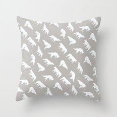 wild wolves pattern Throw Pillow