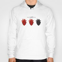 health Hoodies featuring Heart Health by Tanner Marshall