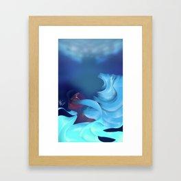 Within the Depths Framed Art Print