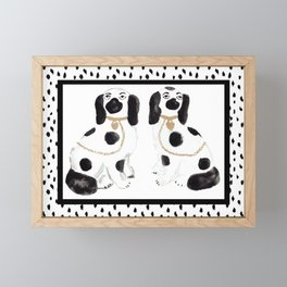 Staffordshire Dog Figurines No. 1 Framed Mini Art Print