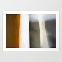 Abstract Lines. Like Painted on Canvas. Art Print