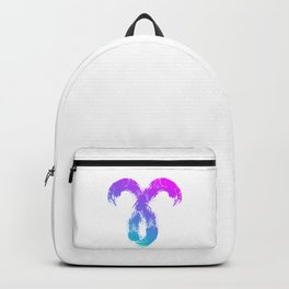 Brush abstract zodiac sign Aries Backpack