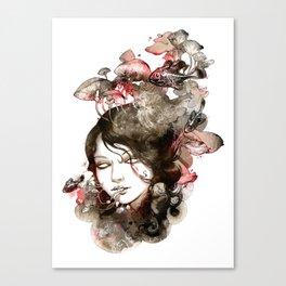 Metamorphosis of a fading memory Canvas Print