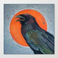 Raven Sun Canvas Print