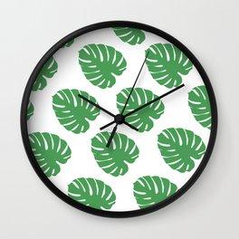 Original Palm Leaves Wall Clock