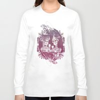 wedding Long Sleeve T-shirts featuring Skeleton wedding by diggy