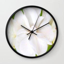 White Flowers | Flower | Floral | Nadia Bonello Wall Clock