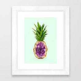 PINEAPPLE QUARTZ Framed Art Print
