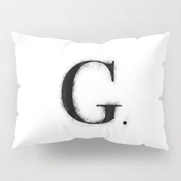 G. - Distressed Initial Pillow Sham