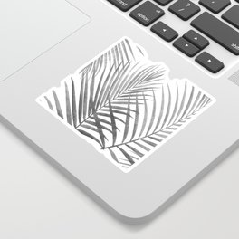 Black and White Tropical Palms Sticker
