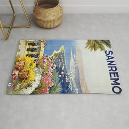 San Remo - Italy Vintage Travel Poster 1920 Rug