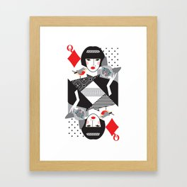 Queen of Diamonds Framed Art Print