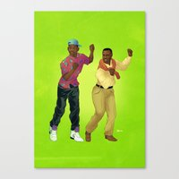 fresh prince Canvas Prints featuring Fresh Prince by Dave Collinson