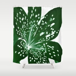 Lily Infrared In Green Shower Curtain