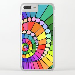 Rainbow Spiral Clear iPhone Case