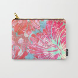 Blue Water Hibiscus Snowfall Carry-All Pouch