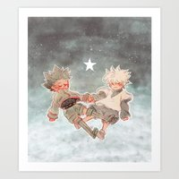 starry night Art Prints featuring Starry by fonbella