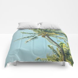 Kenolio Beach Hawaiian Coconut Palm Trees Kīhei Maui Hawaii Comforters