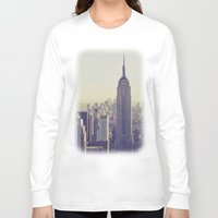 nyc Long Sleeve T-shirts featuring NYC by Chernobylbob
