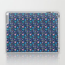 Denim Look Floral and Insect Pattern Laptop & iPad Skin