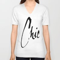 chic V-neck T-shirts featuring Chic by I Love Decor