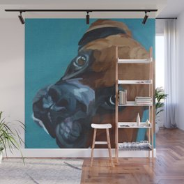Leo the Boxer Dog Portrait Wall Mural