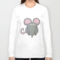 mouse Long Sleeve T-shirts featuring Mouse by Rafael Martinez