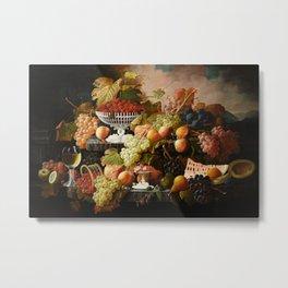 Abundance of Fruits Metal Print