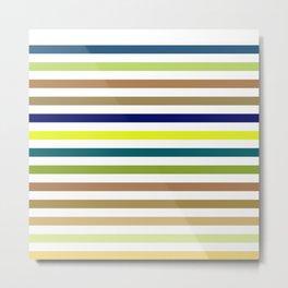Simple Colorful Horizontal Strips - Rainbow Color Lines Metal Print