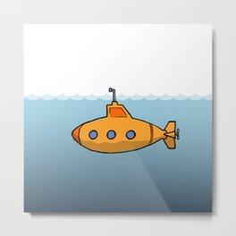 A submarine for exploring Metal Print