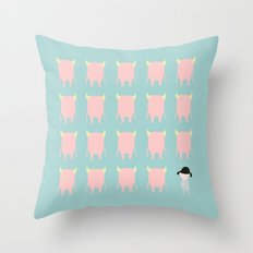 Monsters Throw Pillow
