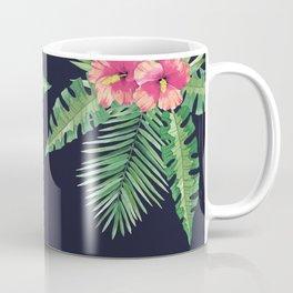 Tropical Cluster Dark Coffee Mug