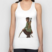 katniss Tank Tops featuring Katniss Everdeen by Kate O