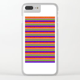 Bubbly Rainbow Striped Pattern Clear iPhone Case