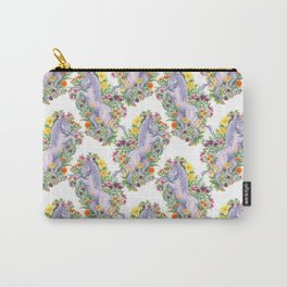 Unicorn Millefleur Carry-All Pouch