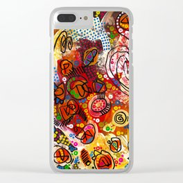 """""""the infernal"""" Clear iPhone Case"""