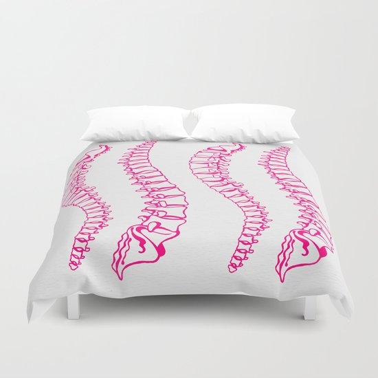 Pink Vertebrae Duvet Cover