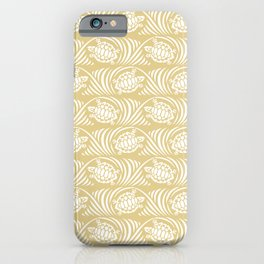 Turtles in the ocean, sandy color marine print iPhone Case