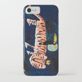 Tiger, Cheetah, Toucan Painting iPhone Case