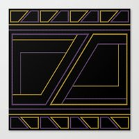Canvas Prints featuring Geometry on black (abstract) by Absentis Designs