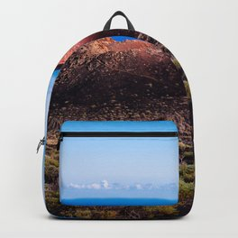 Volcano cinder cone in the Island of La Palma Backpack
