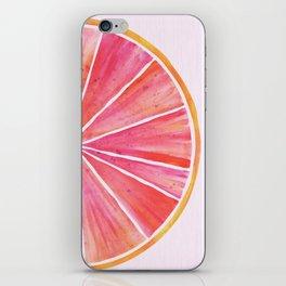 Sunny Grapefruit Watercolor iPhone Skin