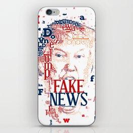 Donald Trump Fake News color iPhone Skin