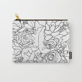 Bouquet_3BW Carry-All Pouch