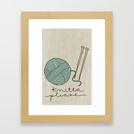 Knitta Please Framed Art Print