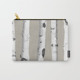 Birch tree forest art Carry-All Pouch