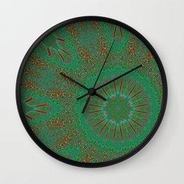 Off-centric Super Nausea Mandala Pattern Wall Clock